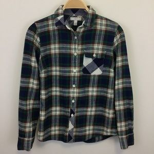 J. Crew Plaid Button Down Buffalo Check Pocket - 2